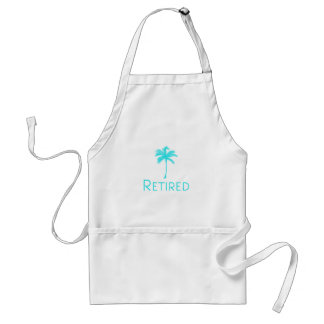Retired Vacation Palm Tree Standard Apron