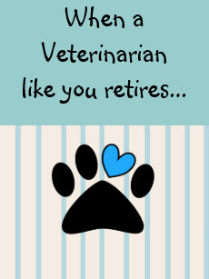 Retired Veterinarian Greeting Card