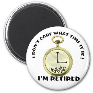 Retired watch 6 cm round magnet