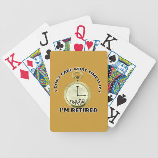 Retired watch bicycle poker cards