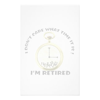Retired watch customised stationery