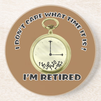 Retired watch drink coaster