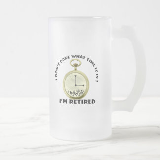 Retired watch frosted glass mug