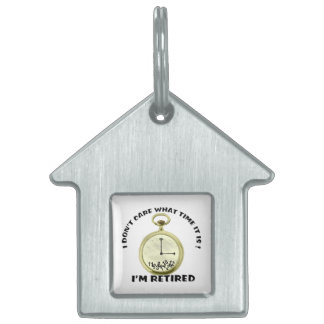 Retired watch pet ID tag