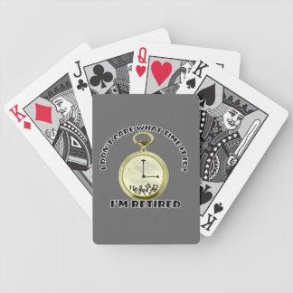 Retired watch poker deck