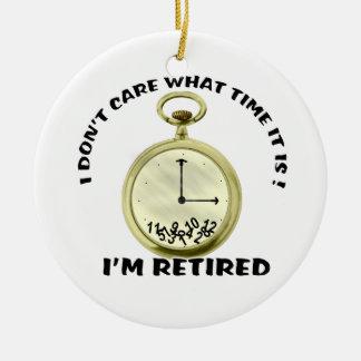 Retired watch round ceramic decoration
