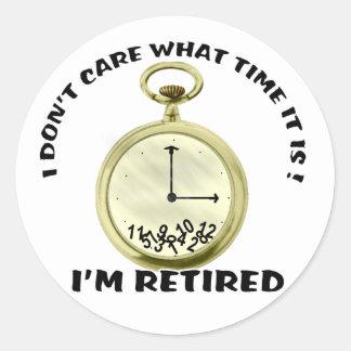 Retired watch round sticker