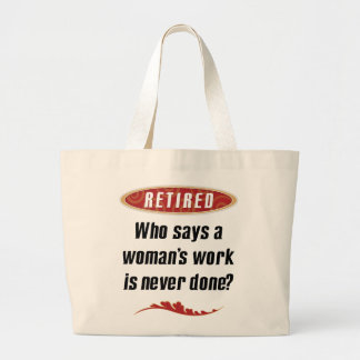 Retired Woman Tote Canvas Bag