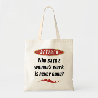Retired Woman Tote Canvas Bags