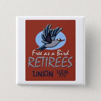 Retirees Union 15 Cm Square Badge