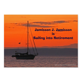 Retirement Announcement Sailing into retirement