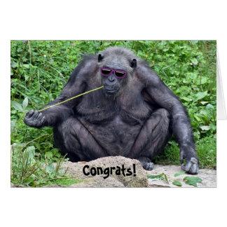 retirement-chimpanzee with sunglasses card