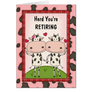 Retirement Congratulations - Cows Greeting Card