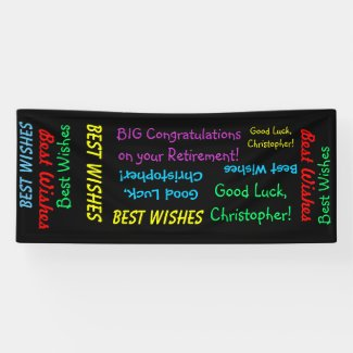 Retirement Congratulations Fun Banner