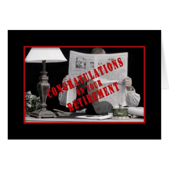 RETIREMENT CONGRATULATIONS - GREETING CARD