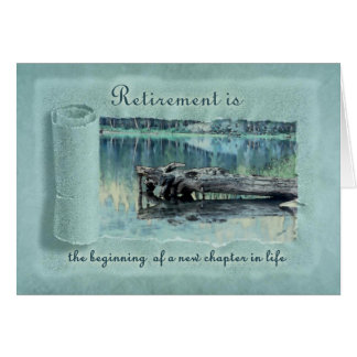 Retirement Congratulations Woods Lake Card