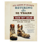 Retirement Construction Military Invitation