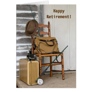 retirement for him-vintage fishing rod card