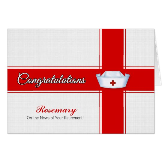 Retirement from Nursing Congratulations - Name Card