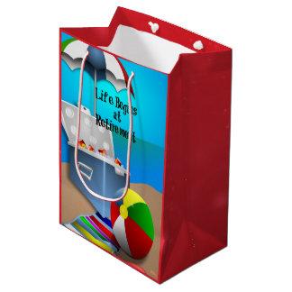 Retirement - Fun at the Beach Medium Gift Bag