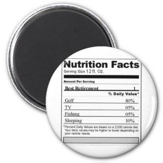 Retirement Funny Nutrition label Magnet