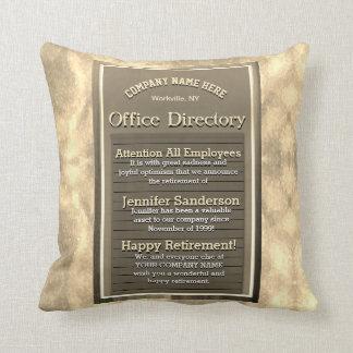Retirement Gift Custom Golden Vintage Sign Cushion
