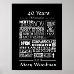 Retirement gift print- Boss retirement poster