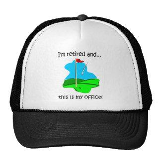 Retirement humor for golfers cap
