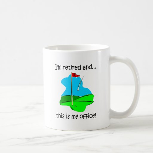 Retirement humor for golfers mugs