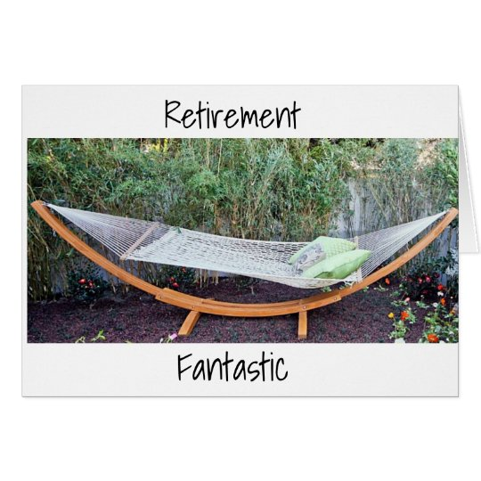 *RETIREMENT HUMOR* HAMMOCK AND JOKES FOR YOU CARD