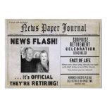 Retirement Invitation (COUPLE)- PHOTO/ NewsPAPER