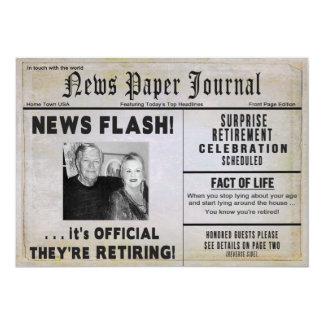 Retirement Invitation (COUPLE)- PHOTO/ NewsPAPER