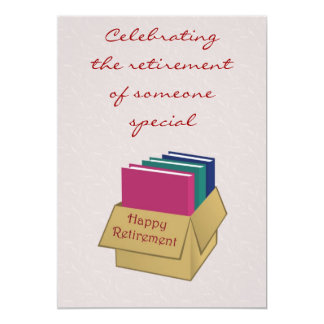 Retirement Invitation for office worker secretary