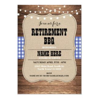 Retirement Invitation Retired Party BBQ Invite