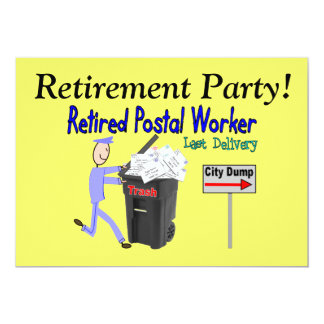 Retirement Invitations-Postal Worker Card