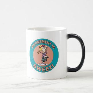 Retirement Is Sweet (2) Morphing Mug