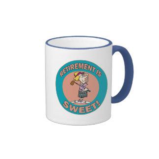 Retirement Is Sweet (2) Coffee Mugs