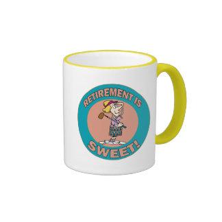 Retirement Is Sweet (2) Ringer Mug