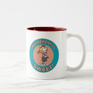 Retirement Is Sweet (2) Two-Tone Mug