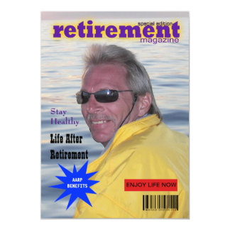 Retirement Magazine Cover 13 Cm X 18 Cm Invitation Card