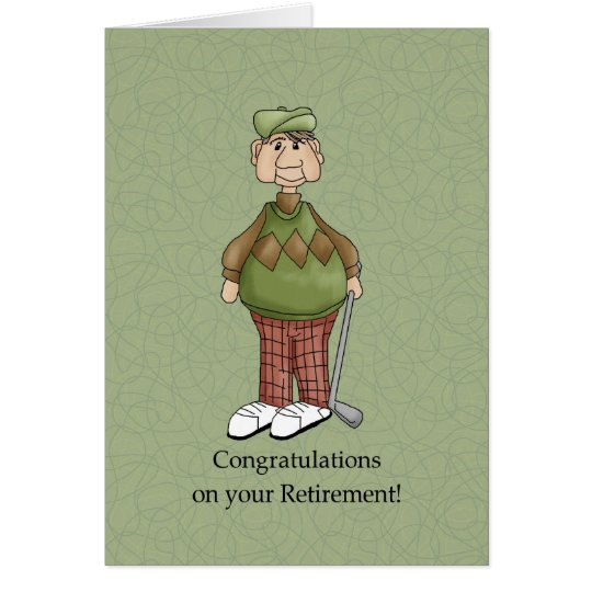 Retirement Male - Humour Card