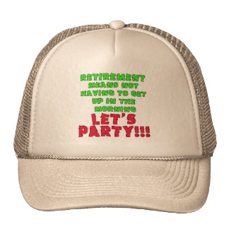 Retirement Means I Don t Have to Get Up Mesh Hats