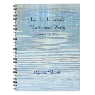 Retirement Party Guest Book Abstract Reflection