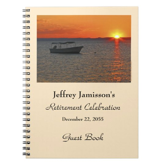 Retirement Party Guest Book, Fishing Boat Notebooks