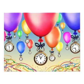 RETIREMENT PARTY INVITATION BALLOONS WATCHES