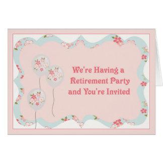 Retirement Party Invitation Card, Female Retiree
