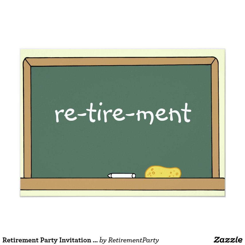 Retirement Party Invitation for a Teacher
