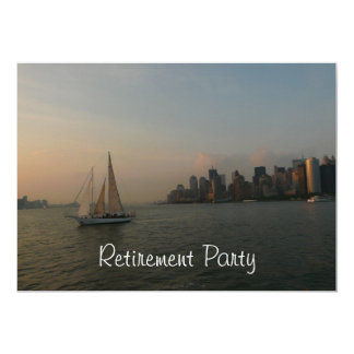 Retirement Party-Sailboat in the Harbor Card