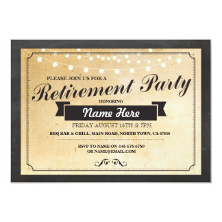 Retirement Party Vintage Retired Paper Invitation
