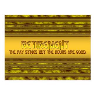 Retirement Pay Postcard